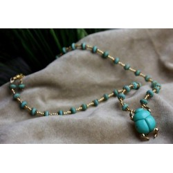 Sacred Scarab Necklace